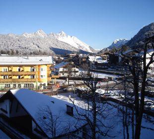 Blick aus dem Zimmer Hotel Karwendelhof