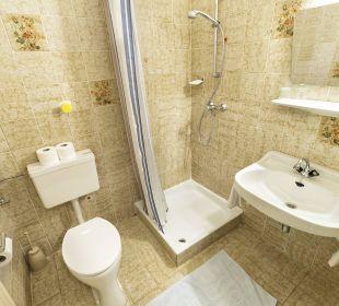 Badezimmer der Zimmerkategorie Gartenblick II BergPension Lausegger