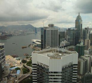 Vue depuis le 57e etage Conrad Hong Kong