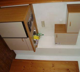 Kleine Küchenzeile im Appartement Hotel Mühlenhof