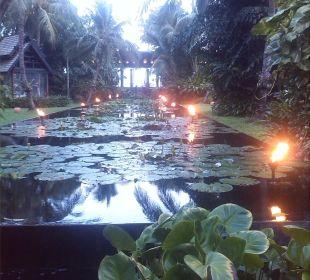 Fackeln im Garten Anantara Bophut Resort & Spa