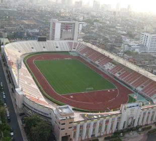Ausblick aus dem Zimmer auf das National Stadium