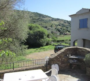 Terrasse mit Grill Sardafit Ferienhaus Budoni