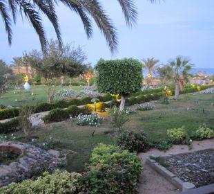Blick vom Balkon bei Abenddämmerung Three Corners Fayrouz Plaza Beach Resort