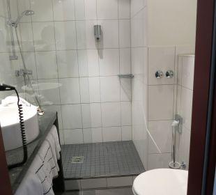 Das nicht ganz so saubere Bad NOVINA HOTEL Tillypark