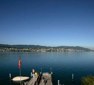 Ausblick vom Hotel auf den Zürichsee Romantik Seehotel Sonne