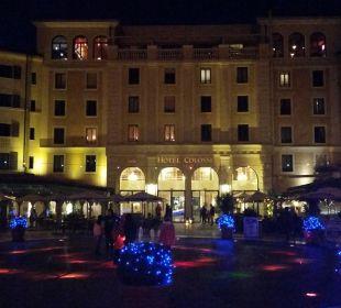 Innenhof abends Hotel Colosseo Europa-Park
