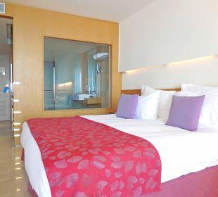 Juniorsuite Bettseite Hotel Lindos Blu
