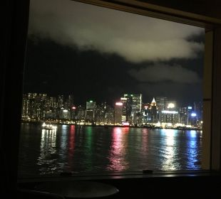 Blick vom Bett InterContinental Hotel Grand Stanford Hong Kong