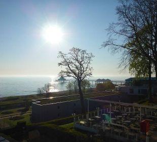 Blick auf Seebrücke Strandhotel Ostseeblick