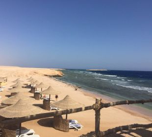 Blick vom Steg am Strand