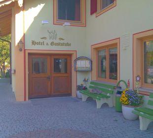 Hoteleingang Hotel Landgasthof Hubertus