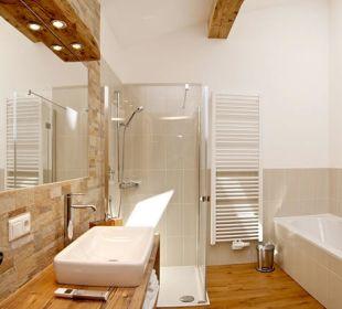 Badezimmer der Traumferienwohnung Biobauernhof Nothegg