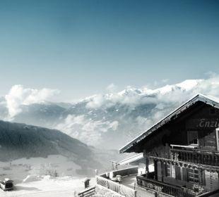 Ausblick von einem der Zimmer Alpengasthof Enzianhof