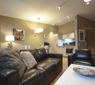 Appartement 3 - Wohnzimmer Stadt Chalet