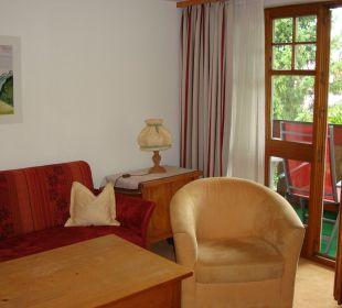 Gemütliche Sitzecke im Elternschlafzimmer (App.43) Hotel Mühlenhof