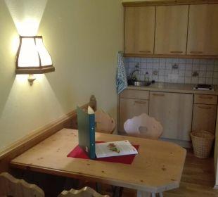 Küche & Essbereich in den Appartements  Gasthaus Kramerwirt