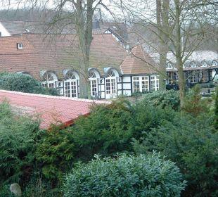 Blick aufs Hauptgebäude Romantik Hotel Bösehof