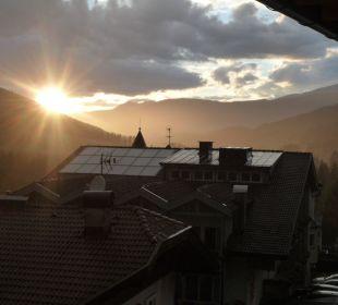 Sonnenuntergang um 21:30 Biovita Hotel Alpi