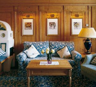 Junior-Suite Wohnzimmer Romantik Hotel Die Krone von Lech