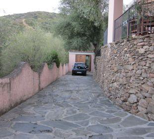 Die Auffahrt Sardafit Ferienhaus Budoni
