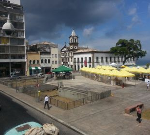Blick auf die Praca da Se Hotel Bahiacafé