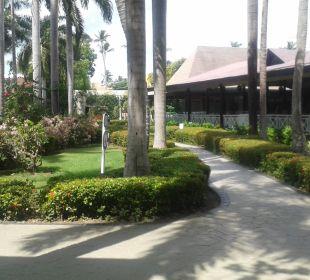 Blick zum Resterant(rechts) Hotel Vista Sol Punta Cana