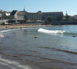Blick vom Balkon auf den Strand Hotel Dunas Don Gregory