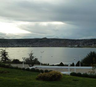 Eingang des Hotels mit Blick auf den Titicacasee Hotel Libertador Lago Titicaca