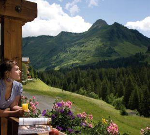 Blick von der Terrasse Berghotel Madlener