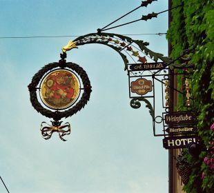 Ausleger vom Würzburger Künstler Curd Lessig   Nichtraucher Hotel Till Eulenspiegel
