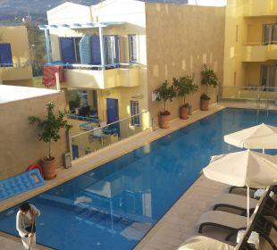 Blick zum Pool Hotel Corissia Princess