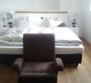 Doppelbett frontal Hotel Wiesler