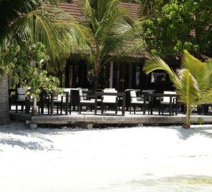 Aussicht von der Terrasse des Restaurants Lily Beach Resort & Spa