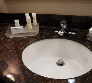 Waschbecken mit Plegeprodukte