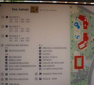 Kleiner Lageplan Hotel Don Antonio