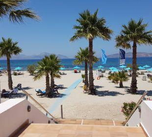 Blick von Taverne zum Meer FAMILY LIFE Marmari Beach by Atlantica