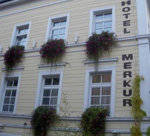 Hotelfassade Hotel Merkur