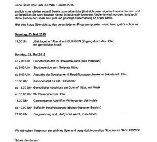 Turnierausschreibung Quellness Golf Resort - Das Ludwig