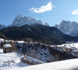 Balkonblick Winter Biovita Hotel Alpi
