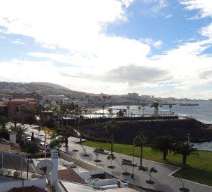 Ausblick vom Hotel zur linken Meerseite Gran Tacande Wellness & Relax Costa Adeje