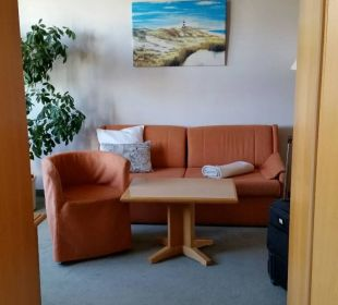 Couchecke vom Schlafzimmer aus Hotel Wald und See