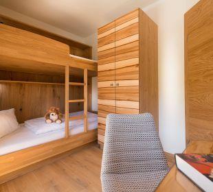 Erker-Familiensuite - Kinderzimmer mit Stockbett Verwöhnhotel Berghof