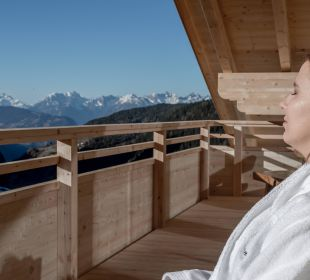 Ausblick auf den Balkonen Berghotel Marlstein
