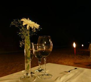Candle-Light-Dinner am Stand Club Aldiana Side (Vorgänger-Hotel – existiert nicht mehr)