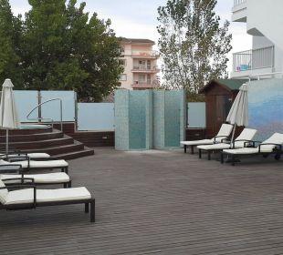 Wellnessbereich, ist Teil der Sonnenterrasse JS Hotel Sol de Alcudia
