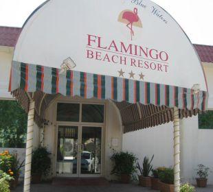 Eingang Hotel Flamingo Beach Resort
