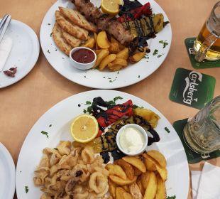 Auswahl aus der Mittagsspeisekarte Hotel Corissia Beach
