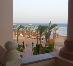 Zimmerausblick zum Strand