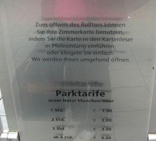 Parkgaragenpreise